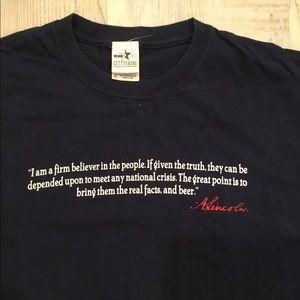 Gettysburg  Abraham Lincoln quote t-shirt. XL